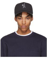 Rag & Bone - Black Dylan Baseball Cap - Lyst