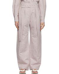 Low Classic Pantalon mauve Wide Tuck - Violet