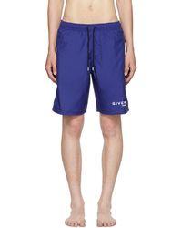 Givenchy - Blue Logo Swim Shorts - Lyst