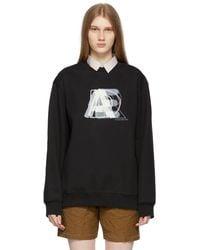 ADER error - ブラック ロゴ スウェットシャツ - Lyst