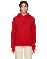 Etudes Studio Pull à capuche et logo rouge Klein