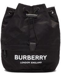 Burberry Black Nylon Drawcord Pouch