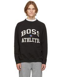 BOSS by HUGO BOSS Russell Athletic エディション ブラック Stedman スウェットシャツ