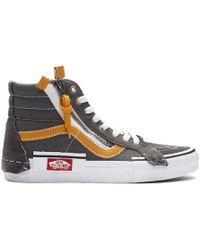 Vans Gray Sk8-hi Reissue Cap Sneakers