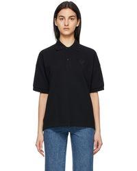 AMI ブラック Ami De Coeur ポロシャツ