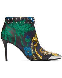 Versace Jeans Couture マルチカラー Baroque Print アンクル ブーツ