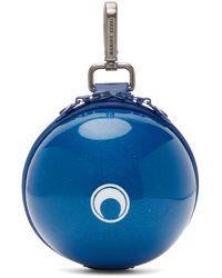 Marine Serre ブルー マイクロ Ball バッグ