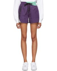 T By Alexander Wang - Short mauve Heavy Washed - Lyst