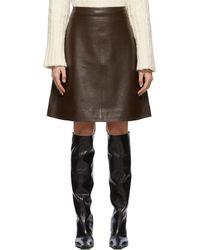 Stand Studio Leather Vega Skirt - Brown