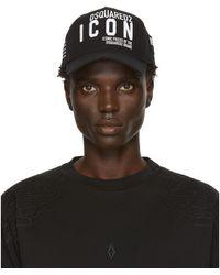 DSquared² Black Gabardine Cap