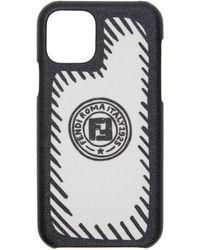 Fendi Joshua Vides Edition ブラック And ホワイト Iphone 11 Pro フォン ケース