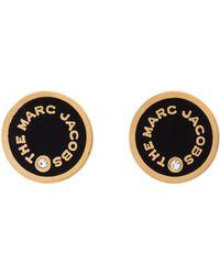 Marc Jacobs ブラック The Medallion スタッド ピアス