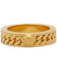 Versace Gold Chain Band Ring - Metallic