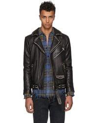 Stolen Girlfriends Club Black Studded Stolen Joey Leather Jacket