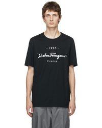 Ferragamo ブラック 1927 ロゴ T シャツ
