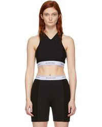 T By Alexander Wang Soutien-gorge a logo noir Wash and Go