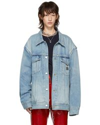 Ambush - Blue Denim Oversized Nobo Jacket - Lyst