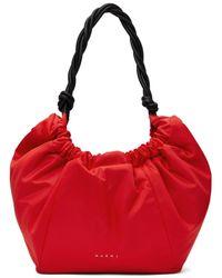 Marni Small Nylon Twirl Bag - Red