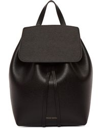 Mansur Gavriel - Black Mini Saffiano Leather Backpack - Lyst