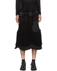 Issey Miyake - Black Stag Knit Pleats Skirt - Lyst