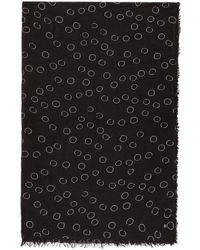 Ann Demeulemeester - Black Cashmere Circles Print Scarf - Lyst