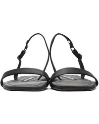 Alexander Wang Black Foldable Ryder Sandals
