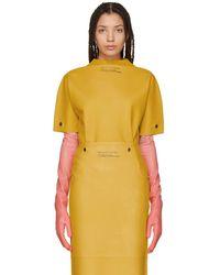 CALVIN KLEIN 205W39NYC - Yellow Rubber T-shirt - Lyst