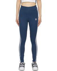 adidas Originals Blue 3-stripes Leggings
