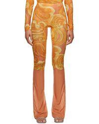 CHARLOTTE KNOWLES Orange Halcyon Leggings