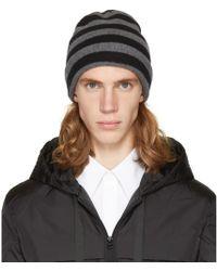 Alexander Wang - Grey & Black Striped Beanie - Lyst