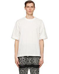Sacai ホワイト コットン Pullover T シャツ