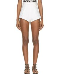 Mary Katrantzou - White Alpahbet Jacquard Bloomer Shorts - Lyst