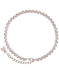 AMINA MUADDI Bracelet de cheville rose de tennis