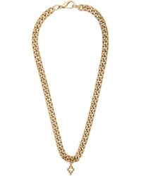 Marcelo Burlon Gold Cross Necklace - Metallic