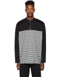 Missoni ブラック And ホワイト ジッパー セーター