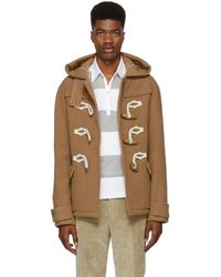 JW Anderson - Brown Wool Knot Duffle Coat - Lyst