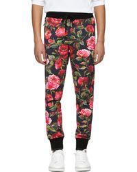 Dolce & Gabbana   Black Rose Joggers   Lyst