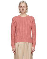 Max Mara Wool & Cashmere Breda Sweater - Pink