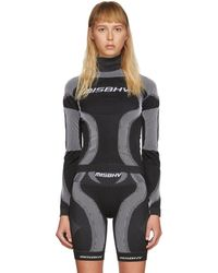MISBHV Black And White Active Turtleneck