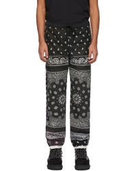 Children of the discordance Pantalon a patchwork noir et brun Bandana
