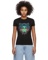 KENZO Black Limited Edition Holiday Tiger T-shirt