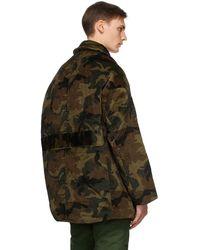 R13 Green Camo Hunting Coat
