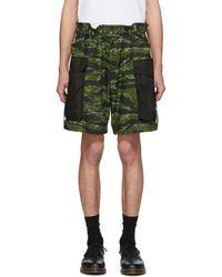 DSquared² - Green Camo Dan Elastic Boxer Cargo Shorts - Lyst