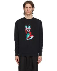 Maison Kitsuné ブラック Acide Fox スウェットシャツ