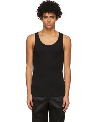 Tom Ford Black Rib Tank Top