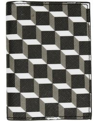 Pierre Hardy - Black And White Canvas Cube Card Holder - Lyst