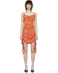 CHARLOTTE KNOWLES レッド Coil ショート ドレス