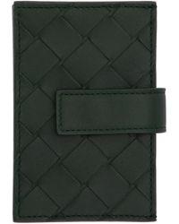Bottega Veneta - グリーン マルチ カード ホルダー - Lyst