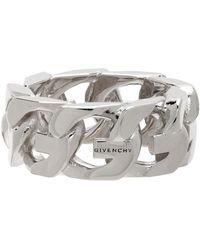 Givenchy Bague argentée G Chain - Métallisé