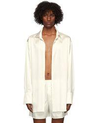 Ludovic de Saint Sernin Off-white Silk Go To Shirt